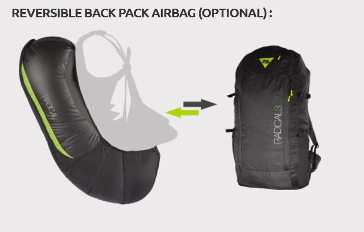 Supair radical 3 airbag-backpack