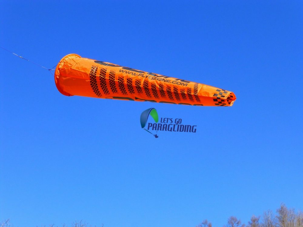 Small Blue Ozone Wind Sock for Paramotoring and Paragliding