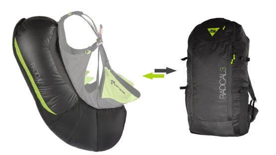 Supair radical 3 REVERSIBLE BACK PACK AIRBAG