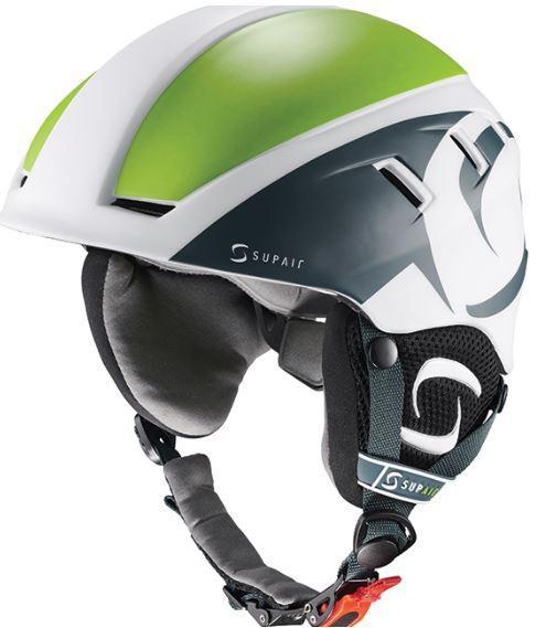Supair paragliding Helmet white green 3