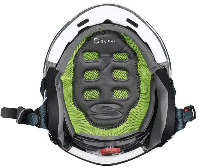Supair Helmet white green 4