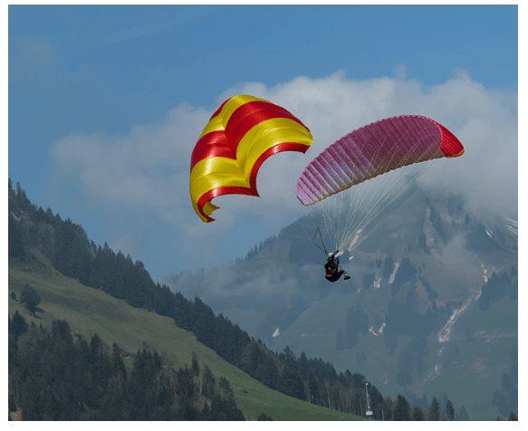 Rogallo Beamer reserve parachute